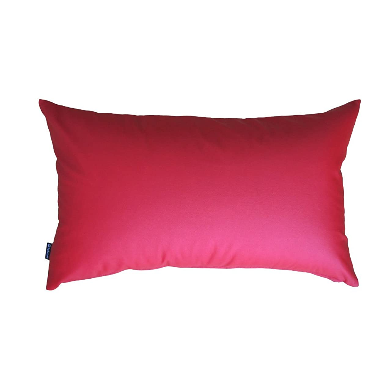 fabrizm 日本製 クッションカバー 長方形 50×30cm カラーレザー レッド 1041-red