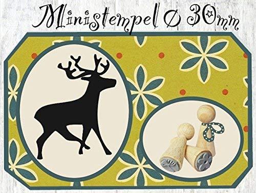 Zwergenstempel Hirsch, Ø30mm, fast 400 lustige Stempel-Motive im Shop