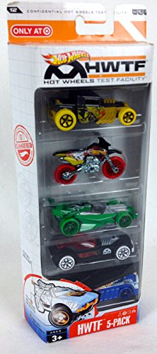Hot Wheels Target Exclusive Hot Wheels Test Facility Collisiohn Test No. 121263B, HWTF 5-Pack