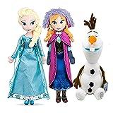 QWEI 3 Unids Kawaii Frozen Peluches 48Cm Anna Cenicienta Sofia Belle Aurora Rapunzel Elsa Anime Plushie Muñeca Encantadora Juguetes