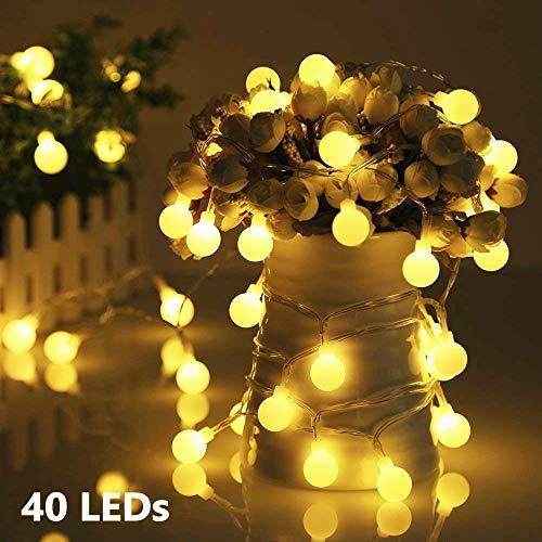 Lichterkette Außen Batterie 40 LED Lichterkette Glühbirnen GREEMPIRE Lichterkette Garten Zimmer Lichterkette Wasserdicht Innen und Außen 4.5M Lichterkette Kinderzimmer Warmweiß