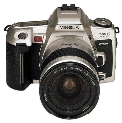 Minolta Dynax 505si Super cámara réflex de Plata con AF 3,5-5, 6/28-80mm Objetivo de Plata