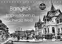 Bangkok Impressionen in Schwarz Weiss (Tischkalender 2022 DIN A5 quer): Eindruecke aus der Hauptstadt von Thailand (Geburtstagskalender, 14 Seiten )