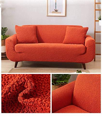 Jonist Funda elástica para sofá, Pliegue Grueso, Varios tamaños, sin Costuras, para sofá, Protector de Muebles, para sillones con reposabrazos, 235-300 cm, Naranja