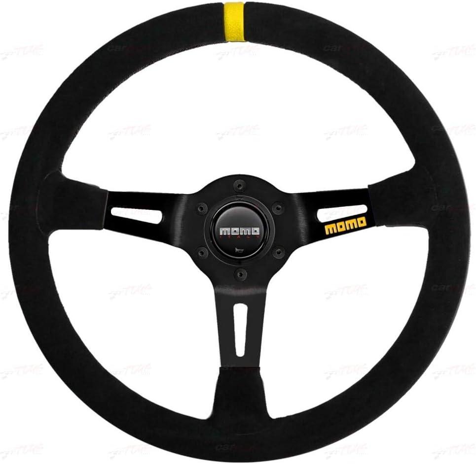 Momo R1908 35S Steering Wheel MOD Suede Raleigh Mall 08 Import Pack Black 1