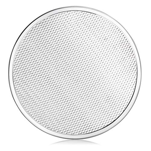 New Star Foodservice 50677 Restaurant-Grade Aluminum Pizza Baking Screen, Seamless, 12-Inch