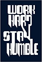 Paper Plane Design Work Hard Stay Humble Fridge Magnet Rubber for Multipurpose Printed Funny Quotes Photos Magnets for Home/Kitchen/Office (10 X 1 X 15 cm / 6 X 4 inch)