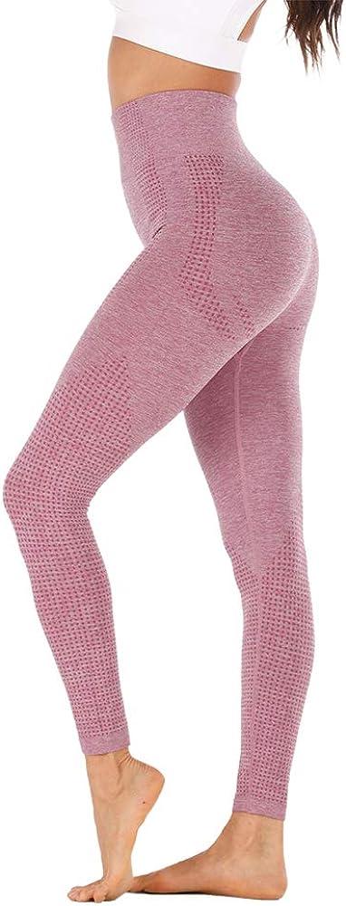 HH HOFNEN High Waist Yoga Pants Tummy Control Non-See-Through Workout Leggings Tights Running Pants for Women