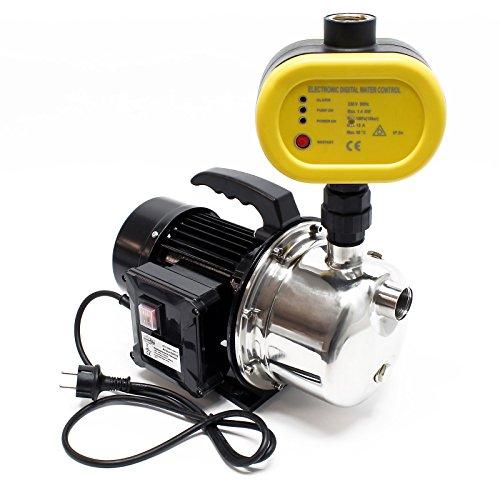 Edelstahl Hauswasserwerk Gartenpumpe 1100 W 4600 L/h mit Pumpensteuerung