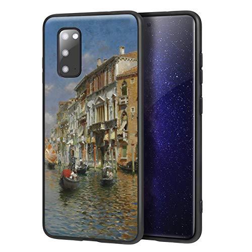 Berkin Arts Rubens Santoro für Samsung Galaxy S20 Hülle/Kunst Handyhülle/Giclée UV Druck auf der Handyabdeckung(Gondolas On Das Grand Kanal Venedig)