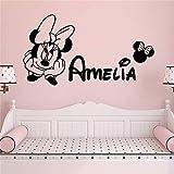 mlpnko Adhesivos de Pared con Nombre Personalizado para dormitorios Decoración de hogar de Vinilo Decoración de Dormitorio de Bricolaje, 43x87 cm