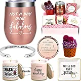 Birthday Gifts Box for Women | 6 Premium Special & Unique Gifts for Mom Daughter Sister Best Friend Wife Grandma Coworker | Surprise Basket for Her Female Filled with Funny Wine Gift Ideas
