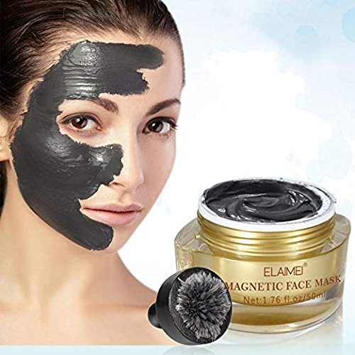 Magnetic Face Mask Mineral-Rich Magnet Mask with Magnet Pore Cleansing Removes Skin Impurities 1.7 oz