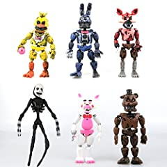 FUN AND CUTE: These are Action Figures FNAF Toy Dolls. Not suitable for children below 3 years old! CONDITION: Unassembled – DIY.100% brand new and good quality NOTE: the picture may not reflect the actual color of the item, In OPP Bag.