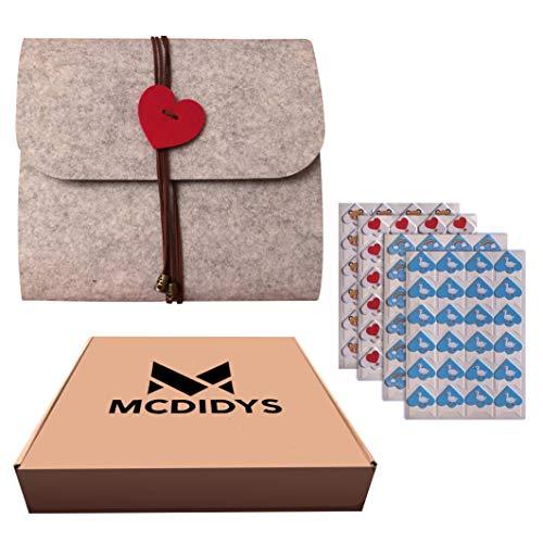 MCDIDYS | Álbum de Fotos | Álbum Scrapbook | Álbum de Recortes DIY| Personalizado para Pegar y Escribir | 40 Paginas Negras | Regalo Original | Bebé | Boda | Comunión.