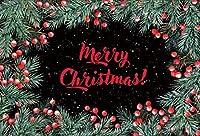 Amxxy 写真の背景のための5x3ftビニールメリークリスマスの背景クリスマスの黒い壁と松の葉コーンホリデーパーティーの装飾テレビ番組大人の子供の肖像画写真スタジオの小道具
