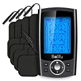 Belifu TENS EMS Unit Muscle Stimulator 24 Modes, Dual Channel TENS Unit, Rechargeable Electric Pulse Massager for Pain Relief/Management & Muscle Strength with 8 Pcs Electrodes Pads