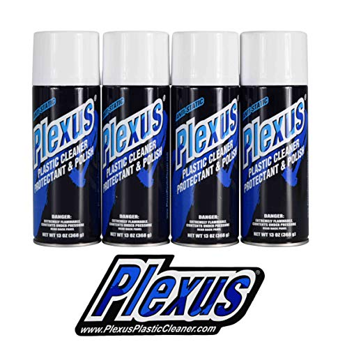 Plexus 20214 Aerosol Plastic Cleaner Protectant and Polish 13oz Can Made in USA with Sticker (4 Pack)