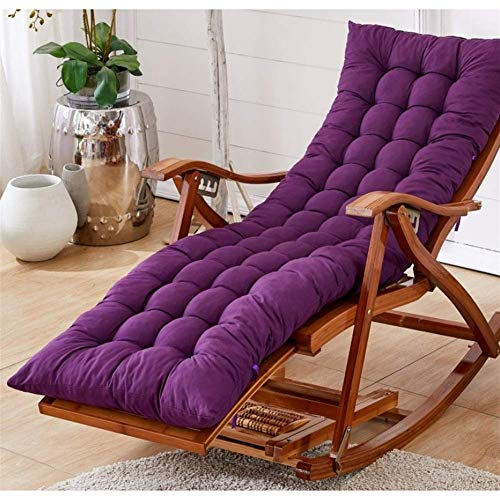 ZWWZ Garden Recliner Chairs,Adjustable Sun Loungers With Cushion Rocking Folding Chair Bamboo Lounge Chair For Patio Or Beach Beach, Balcony, Park Or Campsite HAIKE (Color : Purple)
