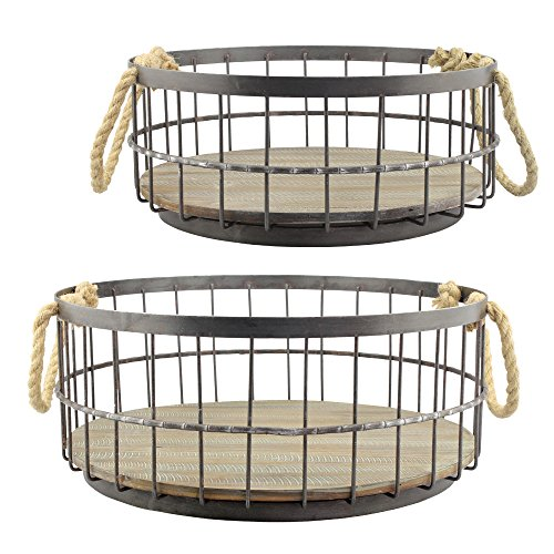 wire basket large round - 3