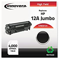 Innovera 83012Xリサイクルq2612X ( 12j )レーザートナー、4000Yield、ブラック