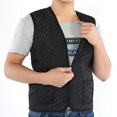 Wasbaar elektrisch verwarmd vest voor heren, warm vest met 3 versnellingen, temperatuurregeling, licht geïsoleerde intelligente verwarming verwarmingsvest voor outdoor-activiteiten bij koud weer. XX-Large
