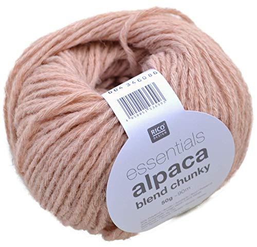 Rico essentials Alpaca blend chunky Fb. 04 puder - leichte Wolle mit Alpakawolle zum Stricken & Häkeln made in Italy
