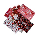 7PCS Patchwork Stoff Paket,Love Pure Cotton Fabric DIY