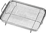Winfred Edelstahl Grillkorb Multifunktion Grillgitter Backkorb für Pommes Frites, Grillen (31,8x 22,6x 8,4CM)