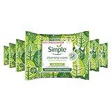 Simple Sanft zu Haut biologisch abbaubare Abschminktücher für empfindliche Haut, 20 Stück, 6 Stück