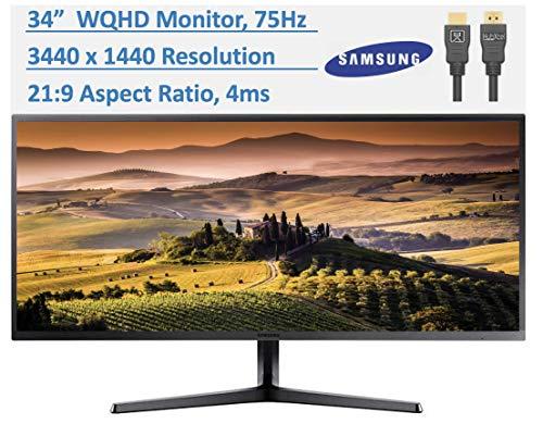Samsung SJ55W 34 inch WQHD 75Hz Ultrawide Gaming Monitor