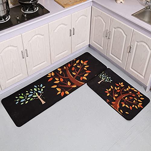 HLXX Felpudo de Dibujos Animados Simple Alfombra de Piso de Cocina Felpudo de Entrada baño Antideslizante Alfombra Larga Alfombra Lavable A11 40x60cm