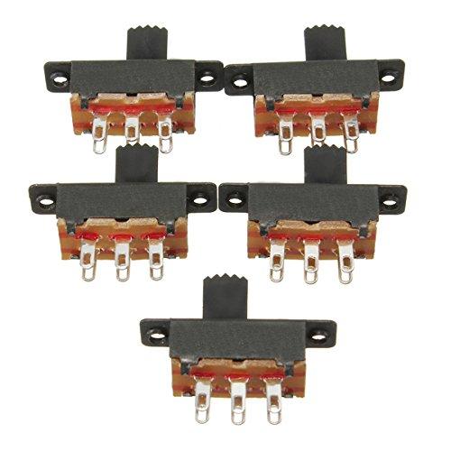 Viviance 5 stuks 6 pins Slide Switch On/On Verticale Mini Miniature Terminals