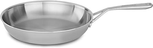 "discount KitchenAid sale Tri-Ply 12"" 2021 Skillet, Stainless Steel, Medium online"