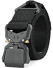 MOZETO Cinturón táctico, diseño militar, resistente, con hebilla de metal de liberación rápida, para actividades al aire libre, trabajo, militar, ocio, caza