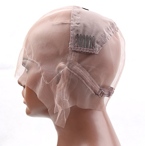 Bella Hair Glueless Full Lace Wig Cap for Making Wigs with Adjustable Straps and Combs (Medium Size Cap)