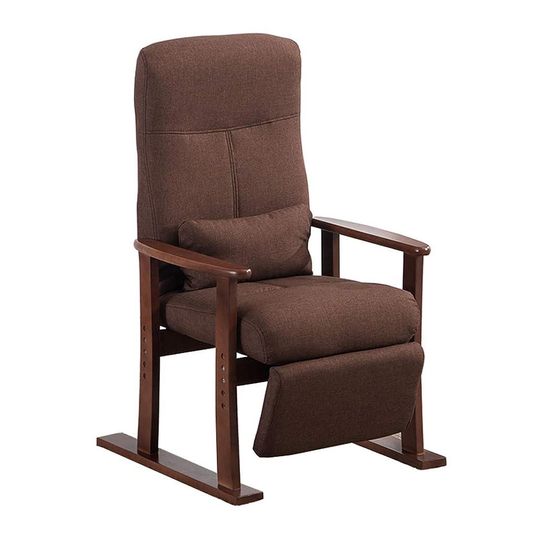 から黒あえぎ無垢材のデッキチェアリクライニングチェアダイニングチェア背もたれアームチェアベッドルームリビングルームバルコニーレジャーソファ椅子サンラウンジャー美容チェアコンピュータチェア (Color : Brown)