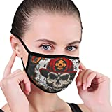 Vintage Firefighter Colorful Label Template With Fireman Skull Fabric Half Face Mask Mouth Masks with Earmuffs Anti Dust Anti Haze Windproof Mask