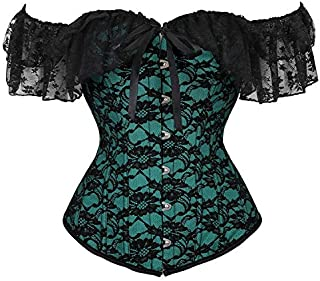 SYMG Ladies Sculpting Clothes, Short-sleeved Gauze Short-sleeved Corsets, Sexy and Fashionable, Sculpted Tops for Stage Performances shapewear women (Size : L)