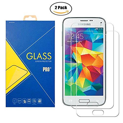[2 Pack] Panzerglas Schutzfolie Samsung Galaxy S5 GT-i9600 / SM-G900F / 9600 / 900 - Gehärtetem Glas Schutzfolie Displayschutzfolie für Samsung Galaxy S5 GT-i9600 / SM-G900F / 9600 / 900