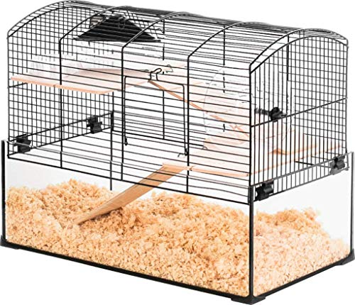 Neo Panas - Jaula para roedores (tamaño pequeño, 52 x 28,5 x 40 cm), color negro