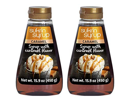 Sukrin Caramel Syrup - Caramel Syrup Substitute with Fiber - Low Carb Keto Caramel Sweetener Alternative (2-pack)