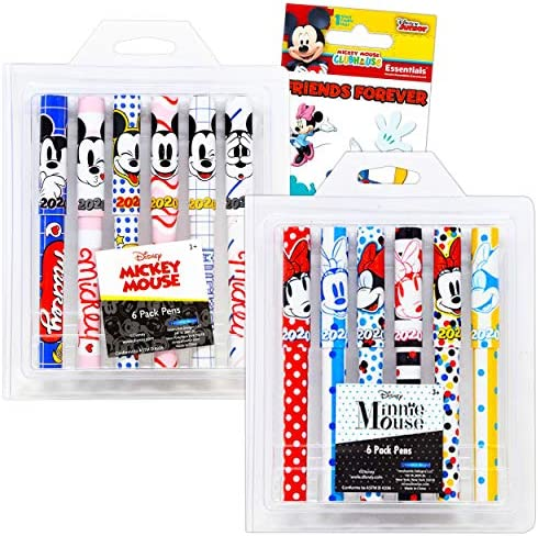 Disney Mickey and Minnie Stationary Set Minnie Mickey Mouse Pens for Adults Kids 12 Pack Mickey product image