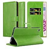 Cadorabo Funda Libro para Sony Xperia XA Ultra en Verde Hierba - Cubierta Proteccíon con Cierre Magnético, Tarjetero y Función de Suporte - Etui Case Cover Carcasa