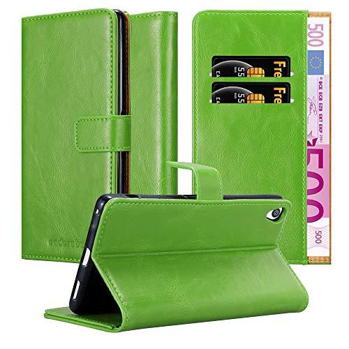 Cadorabo Hülle für Sony Xperia XA Ultra in Gras GRÜN – Handyhülle mit Magnetverschluss, Standfunktion & Kartenfach – Hülle Cover Schutzhülle Etui Tasche Book Klapp Style