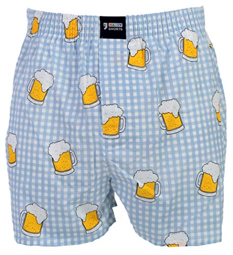 Happy Shorts Webboxer Herren Boxer Motiv Boxershorts Farbwahl, Grösse:M - 5-50, Präzise Farbe:Design 11