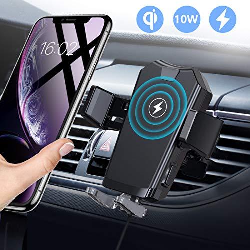 AD ADTRIP Handyhalterung Auto Handyhalter fürs Auto Lüftung Upgrade mit 2 Lüftungsclips Smartphone kfz Halterung 360° Drehbar Handyhalterung für iPhone SE 11 11Pro Samsung S20 S10 Huawei Xiaomi usw