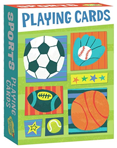 Peaceable Kingdom Super Sports Playing Card Deck of 52 Cards Plus 2 Jokers with Box