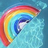 YF-SURINA Fila flotante del semicírculo inflable del arco iris, piscina flotante Balsa flotante Cama de aire en la piscina Playa Lago junto al mar, Actividades al aire libre/cubiertas