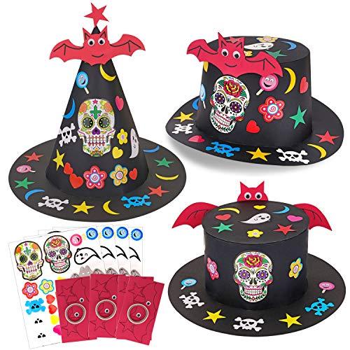 HOWAF 3pcs Noir Halloween Chapeaux pour Enfant Adult...